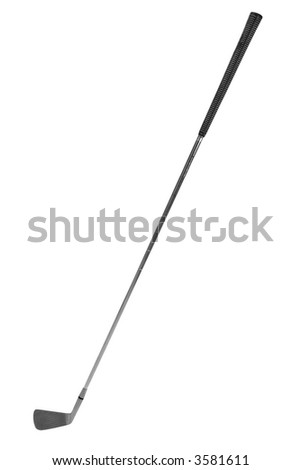 Golf club isolated over a white background - stock photo