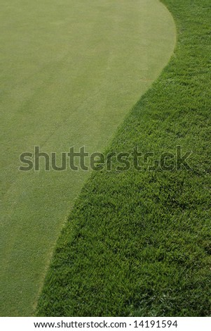 GOLF COURSE GREEN AND FAIRWAY - stock photo