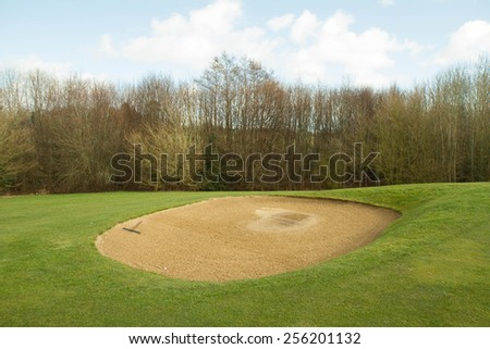 Golf course - sand bunker