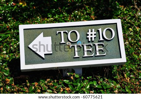 Golf Course Sign - stock photo
