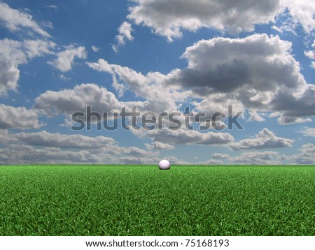 golf course view - stock photo