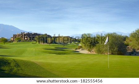 Golf Course with Greens - stock photo