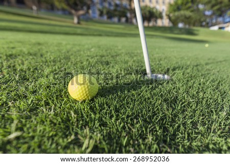 Golf court - stock photo