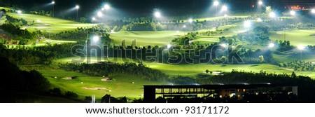 golf court at night - stock photo