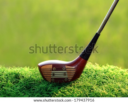 Golf Driver(Wooden) - stock photo