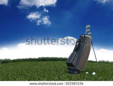 golf equipment on green