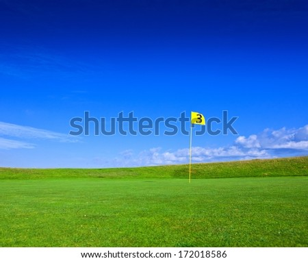 golf field background - stock photo