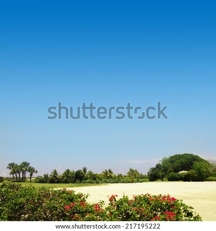 Golf field, Barbados - stock photo
