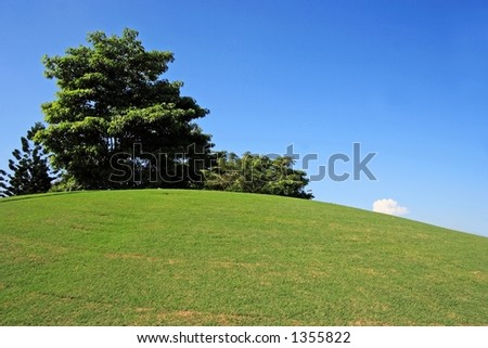 Golf field in KL, Malaysia. - stock photo