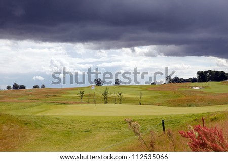 golf field/old courses/ - stock photo