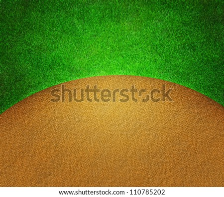 Golf Grass and Sand Background - stock photo