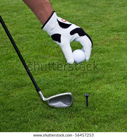 golf in a golf club - stock photo