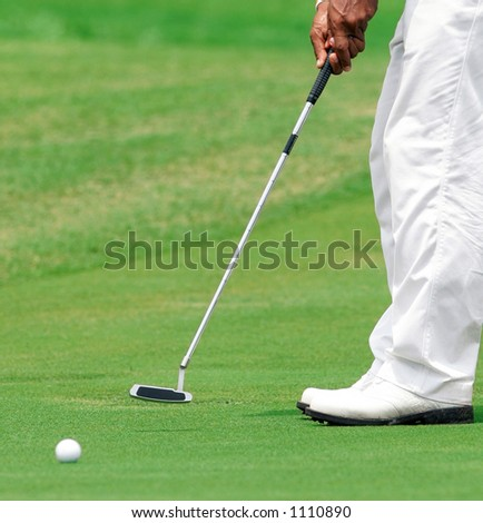 Golf-on green - stock photo