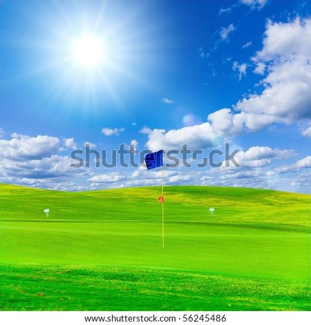 Golf Outdoor - stock photo