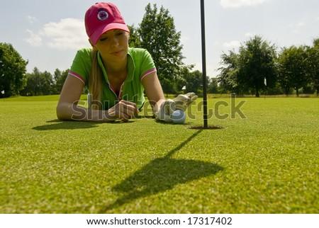 Golf-player - stock photo