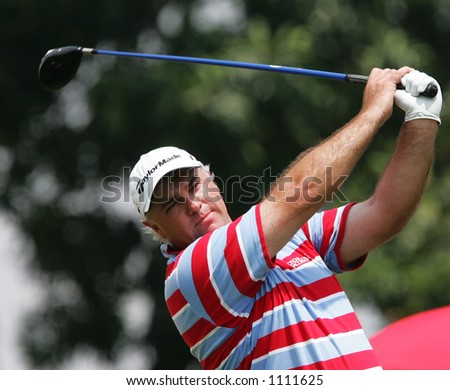 Golf player, Stephen Dodd of Wales - stock photo