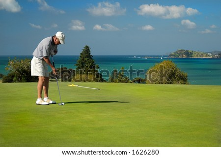 Golf - Putting - stock photo