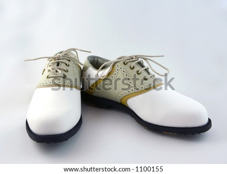Golf Shoes Isolated on White - stock photo