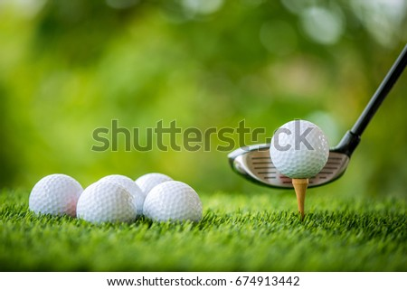 golf tee off for practice