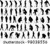 Golf Vectors - Silhouettes - stock photo