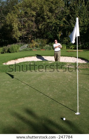 golfer in the bunker
