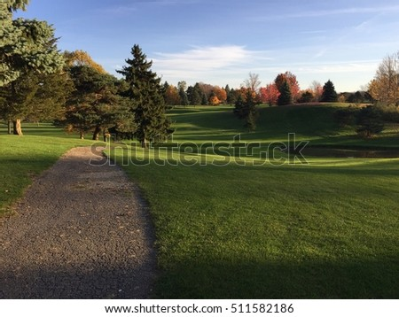 Golfing in November in Michigan