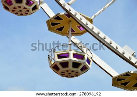 Gondola of a Ferris Wheel - stock photo