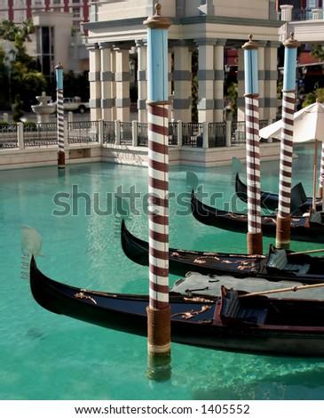 Gondolas, Venetian Hotel, Las Vegas - stock photo