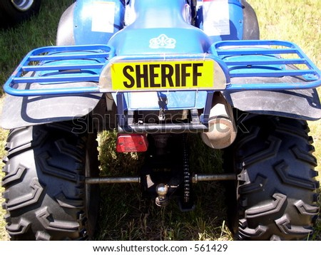 Gone are the days of the Sheriff on horseback. Now mechanized they use ATV's