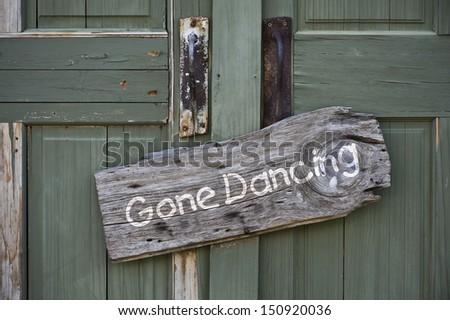 Gone Dancing. - stock photo
