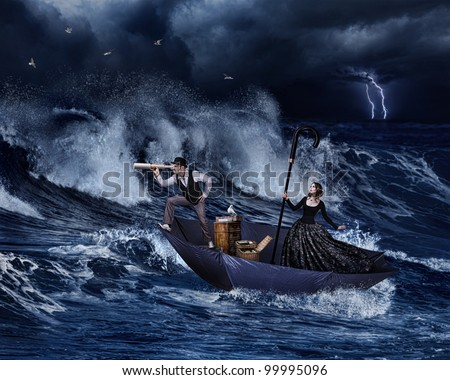 Gone with the wind - stock photo