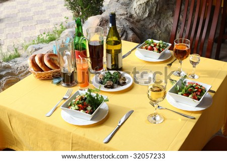 Good appetite and mood! - stock photo
