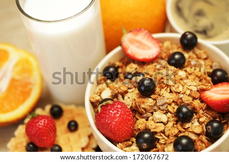 good breakfast - stock photo