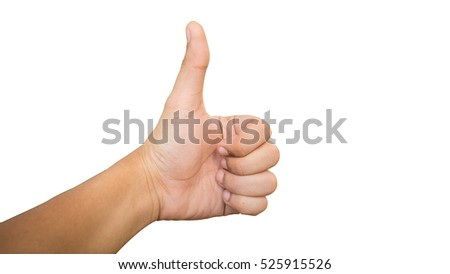 Good hand on white background , Clipping path