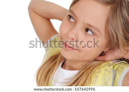 Good-looking girl showed herself in the photos in all her glory - stock photo