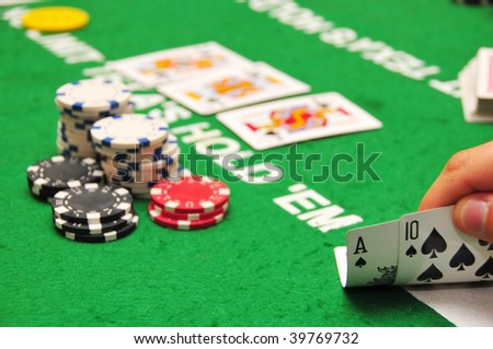 Good luck, mr. Poker. - stock photo