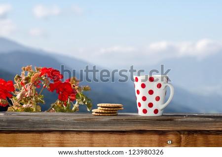 Good morning Alps - stock photo