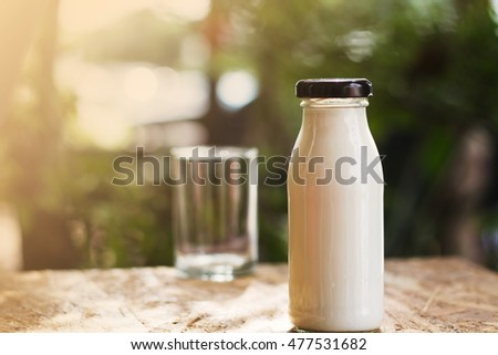 Good morning with fresh milk feel relax in the garden