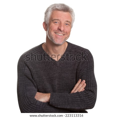 Good-natured and vibrant mature man - stock photo