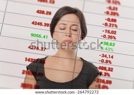 Good News In Market Analyze. - stock photo