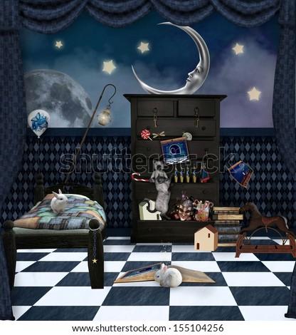Good night magic room - stock photo