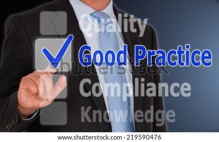 Good Practice - stock photo