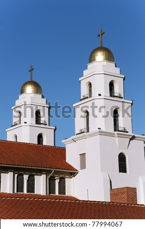 Good Shepherd catholic church in Los Angeles - stock photo