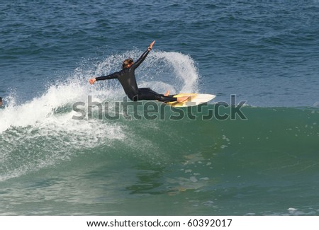 good surfer in action on a wave