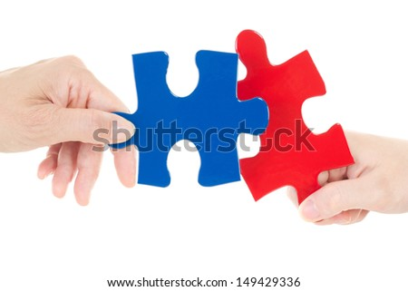 Good teamwork is very important to solve problems - stock photo