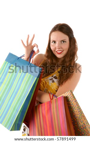 Good time for shopping - stock photo