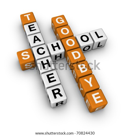 goodbye school (3D crossword orange series)