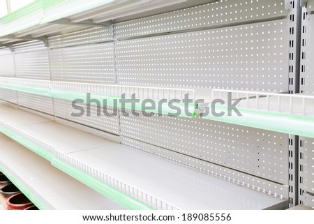 goods shelf - stock photo