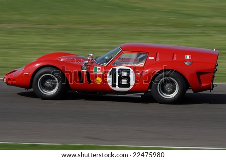 GOODWOOD, ENGLAND - SEPTEMBER 20, 2008: Unidentified driver  competing in a Ferrari 250 GT Berlinetta at the Goodwood Revival event 20 September 2008 at the Goodwood Circuit, England, UK