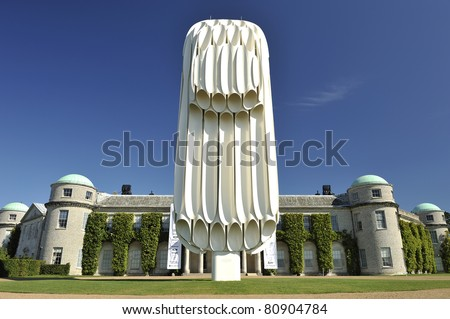 GOODWOOD, UNITED KINGDOM - JULY 3: Goodwood House at the Goodwood Festival of Speed in the United Kingdom on July 3rd 2011 in Goodwood, UK - stock photo